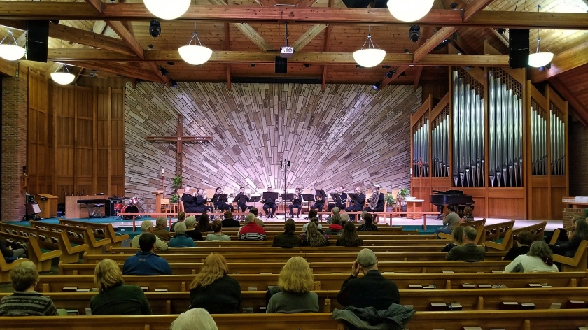 Compass Rose Brass performs live in October 2018 at Trinity Lutheran Church